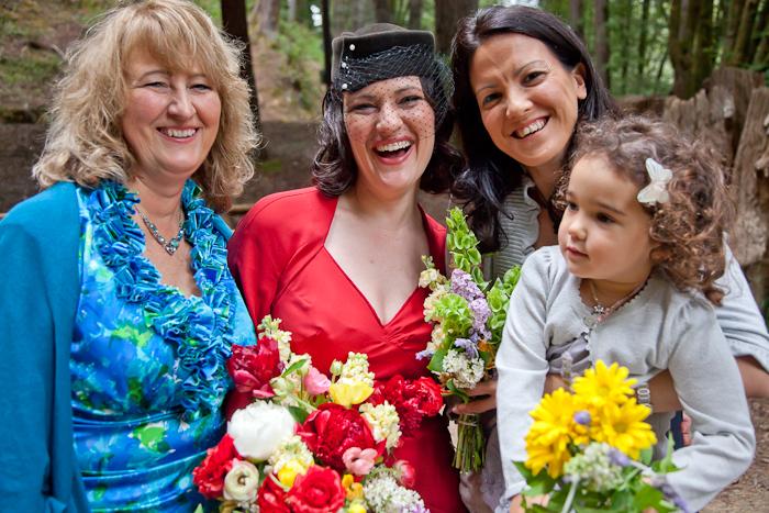 Family smiles, Jody and Anthony's Mendocino Wedding